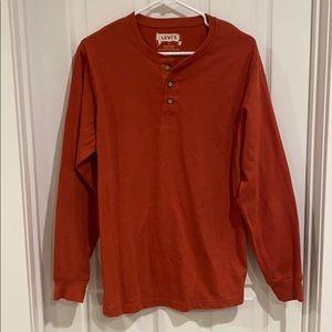 Men's rust orange tshirt